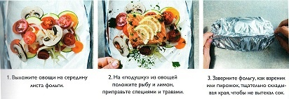 Рыба запеченная в фольге