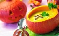 Суп-пюре из тыквы с изюмом