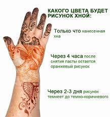 Рисунки хной на руке