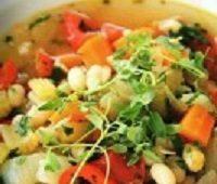 Овощной суп с белой фасолью