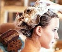 Простые рецепты маски для волос из черного хлеба