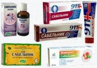 препараты из сабельника
