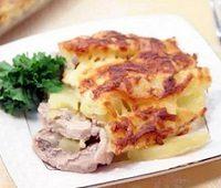 филе индейка запеченное с картофелем