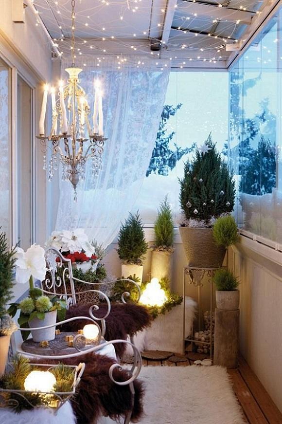 как украсить балкон к новому году4