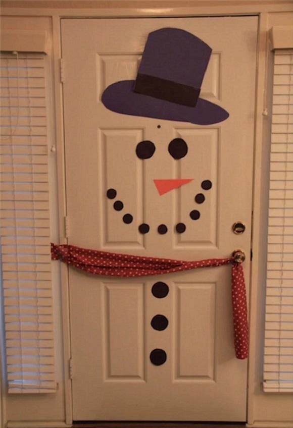 как украсить входную дверь к новому году4