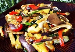 салат из баклажан и вешенок