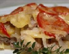 Картофель по-французски в духовке. Рецепты со свининой и курицей.
