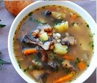 Пошаговый рецепт приготовления грибного супа с перловкой