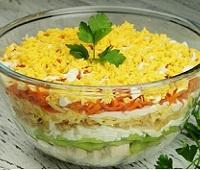 """Пошаговый рецепт приготовления салата """"Африка"""" с киви"""