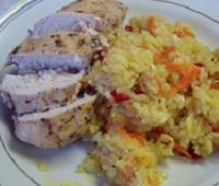 Жареная куриная грудка в соевом соусе на сковороде