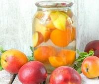 Компот из персиков на зиму - 8 самых простых и вкусных рецептов