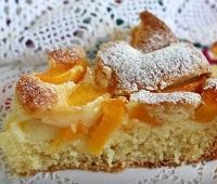 Пирог с персиками свежими - 7 самых простых и вкусных рецептов