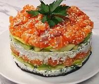 Суши-торт-салат в домашних условиях - 8 самых простых и очень вкусных рецептов приготовления