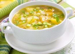 гороховый суп с картофелем на курином бульоне